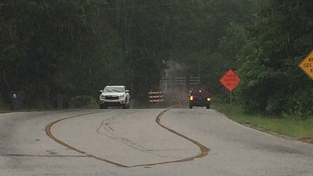 Road closed as bridge is being repaired. (6/20/17 FOX Carolina)