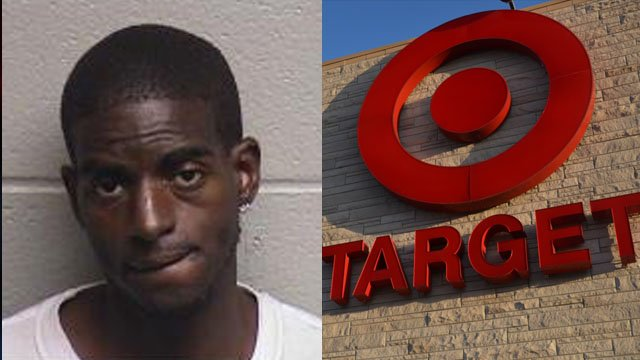 Rollin Owens (left, Courtesy: Durham Co. Jail) and the Target store logo (Wikimedia Commons)