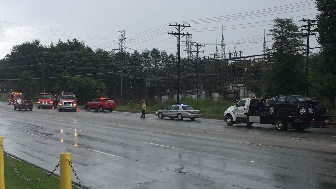 Highway 25 crash (June 21, 2017/FOX Carolina)