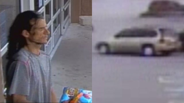 Suspect in credit card theft (Source: GCSO)