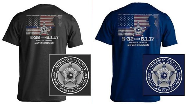 Shirts for Deputy Hodges' family (Source: The Print House/ACSO)