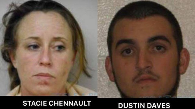 Stacie Chennault (left) and Dustin Daves (right). (Source: Macon County Sheriff's Office)