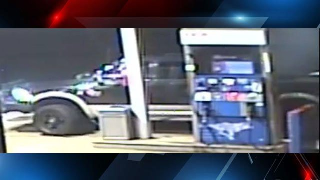 Truck in gas station tampering (Source: Waynesville PD)