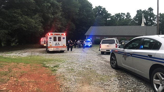 Chase ends at Gospel Baptist Church on North Old Fork Shoals Road. (FOX Carolina/ 6/22/17)