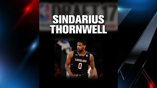 Sindarius Thornwell drafted by Milwaukee Bucks (FOX Carolina)