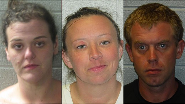 Left to right: Kerris Ball, Rebecca Luna and James Purvis (Source: HCSO)