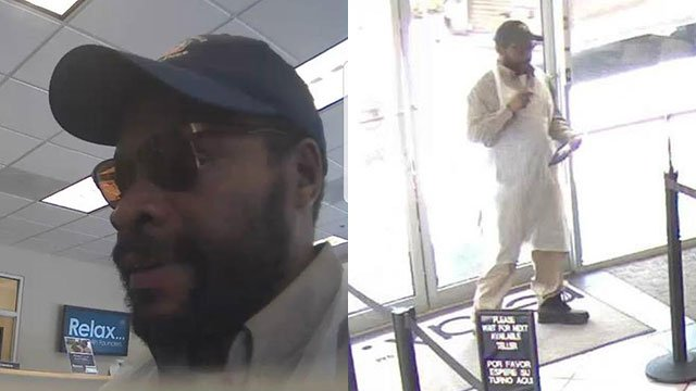 Suspect in bank robbery (Source: Spartanburg PD)