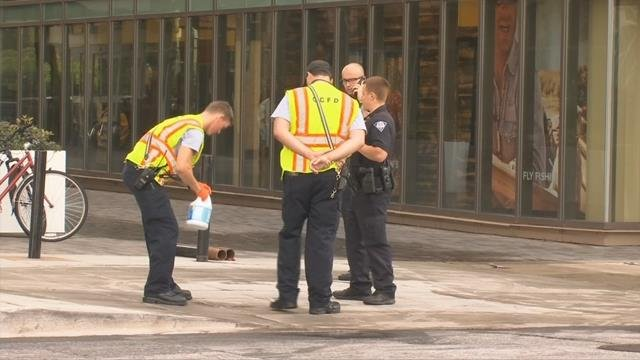 Crews clean up blood trail in downtown Greenville