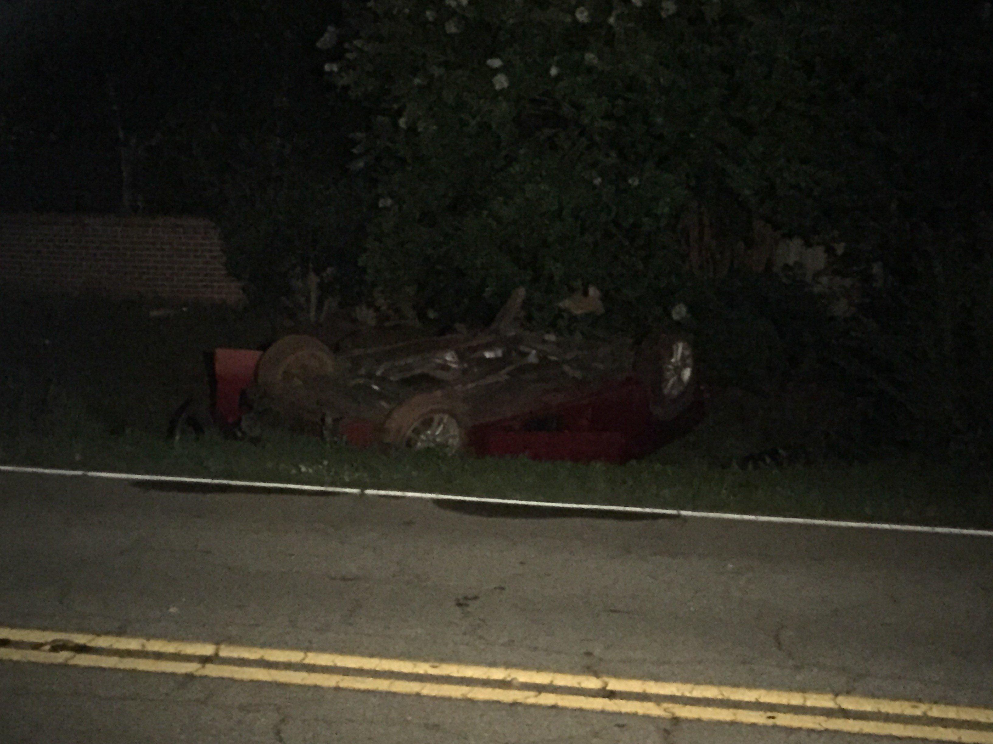 Scene of Anderson Co. rollover wreck (FOX Carolina 6/24/17)