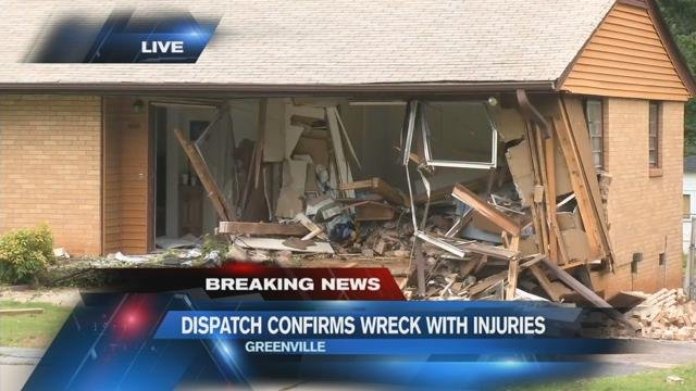 Dispatch: Injuries reported after apparent car crash into home in Greenville Co.