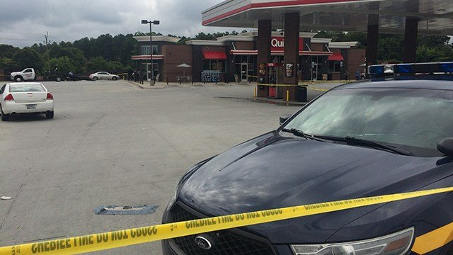 Scene of reported shooting at the QT on Grove Road. (6/24/17 FOX Carolina)