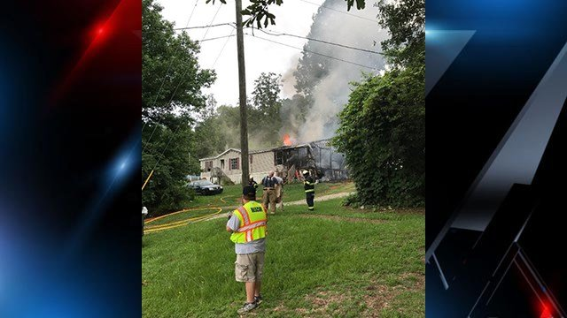 Easley FD responds to house fire (Source: Easley FD)