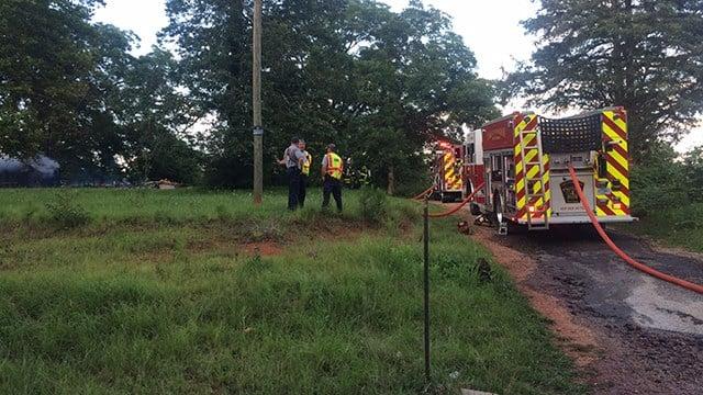 Scene of fire on North Howell Road. (6/26/17 FOX Carolina)