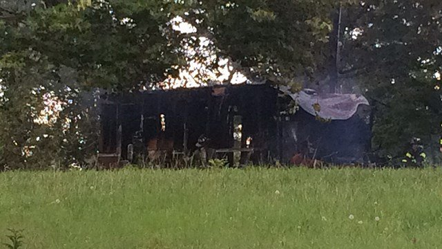Scene of fire on North Howell Road. (6/26/17 FOX Carolina)