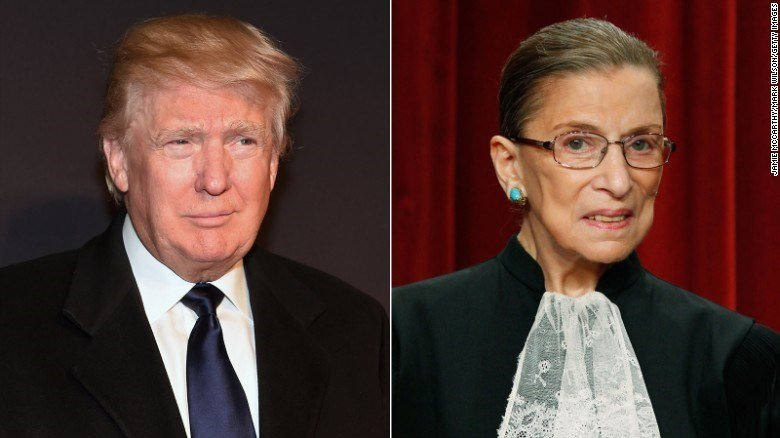 President Trump and Justice Ginsberg (Source: CNN)