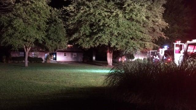 Scene of fire in Campobello. (6/27/17 FOX Carolina)