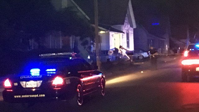 Scene of reported shooting on H Street in Anderson. (6/27/17 FOX Carolina)