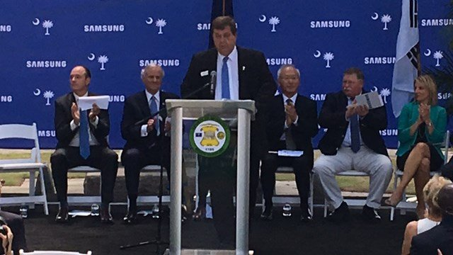Samsung officials announce new facility, jobs coming to Newberry County. (FOX Carolina/ 6/28/17)