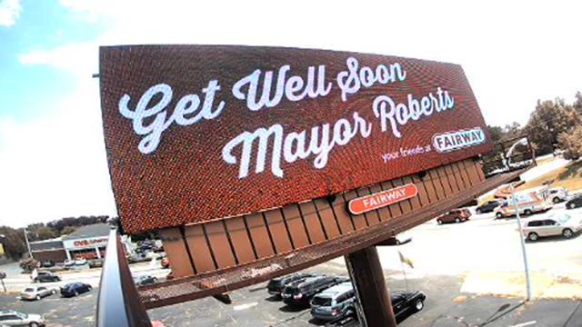 Billboard for Mayor Roberts (Source: Fairway Outdoor)