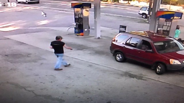 Surveillance footage depicts victim in Sunoco gas station prior to his death. (Source: Sunoco)