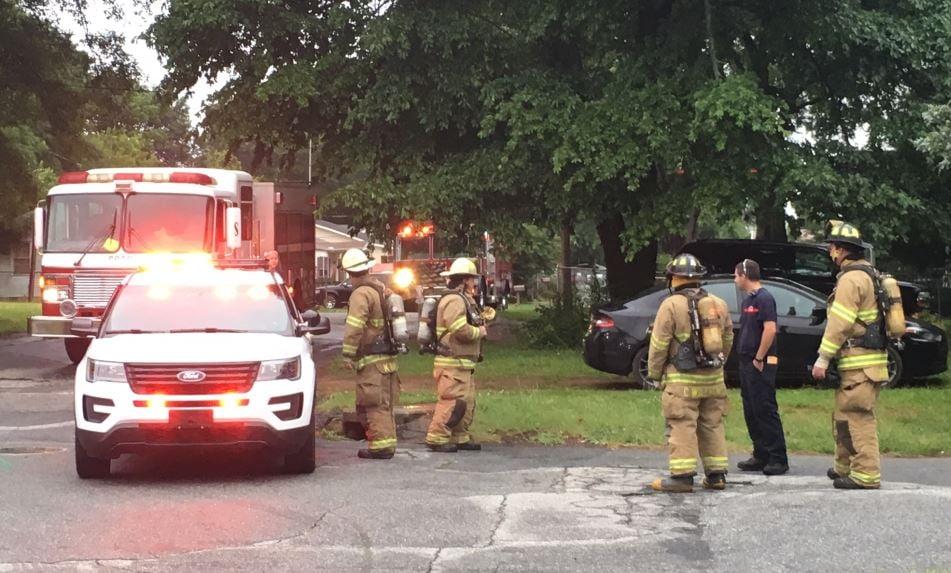 Firefighters on Jasmine Drive (FOX Carolina/ June 30, 2017)