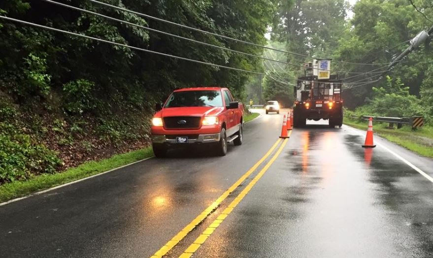 Lines down in Lake Lure (Courtesy: Lake Lure Fire & Rescue)