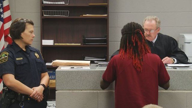 Anthony Jkwan Briggs in bond court. (7/1/17 FOX Carolina)