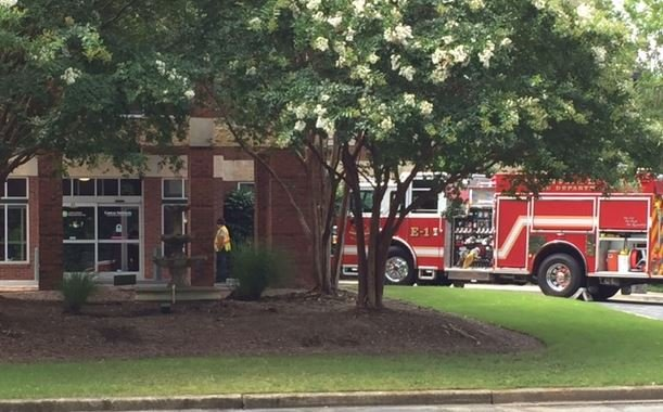 Firefighters at the GHS Cancer Institute (FOX Carolina/ July 3, 2017)