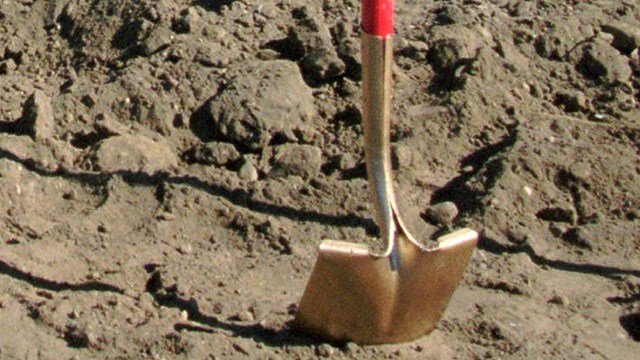 Shovel in dirt (Source: Associated Press)
