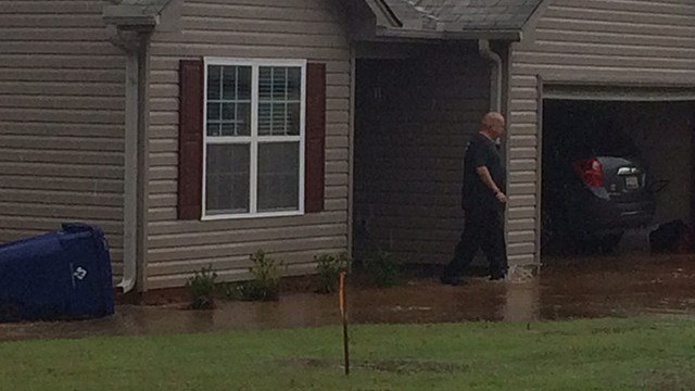 Flooding hits home located on Cassie Marie Ct. (7/3/17 FOX Carolina)