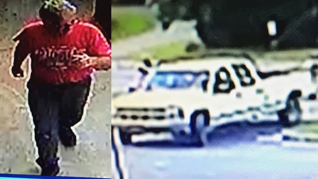 Surveillance images of the man/ vehicle (Courtesy: Rutherfordton PD)