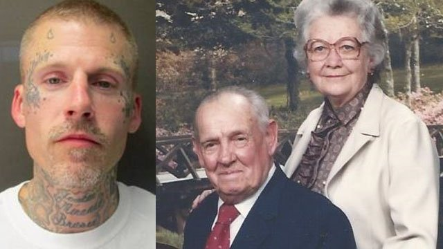 "Left: ""Deuce"" Begley; Right: Cleve and Allene McMahan (Source: Asheville PD)"