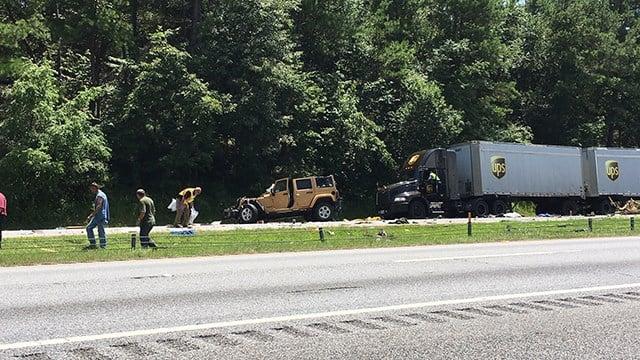 Fatal crash near Exit 2 on I-85 (July 5, 2017/FOX Carolina)