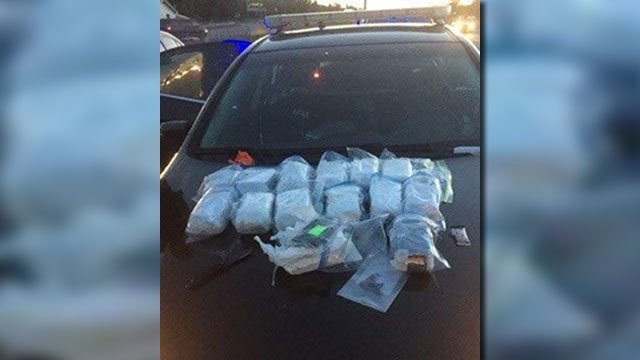 Heroin seized on Greenville Co. interstate (Source: GCSO)