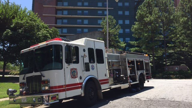 Fire units respond to reported fire at Spartanburg Regional. (7/8/17 FOX Carolina)