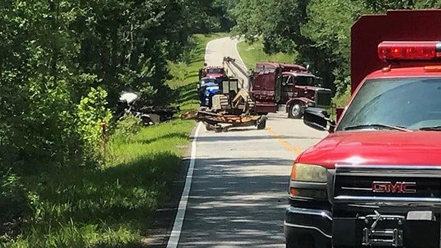 Scene of fatal collision on SC 105. (7/8/17 FOX Carolina)