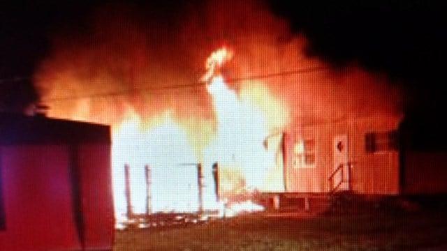 Fire at Beech Street Mobile Home Park. (Source: Lt. Doug Bowers)