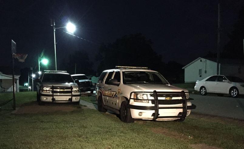 Union County deputy vehicles on 2nd Ave (FOX Carolina/ July 10, 2017)