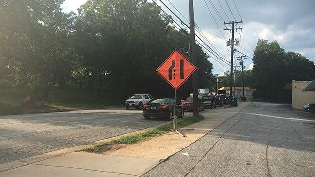 Construction on E. Stone Ave. (July 10, 2017/FOX Carolina)