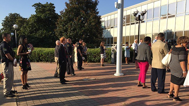 Unity at the Flagpole event (July 11, 2017/FOX Carolina)