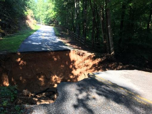 Dug Hill Road sinkhole (Source: Tryon Communications)