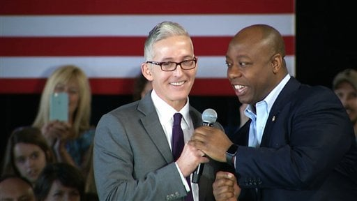 Rep. Trey Gowdy and Sen. Tim Scott (Source: Associated Press)