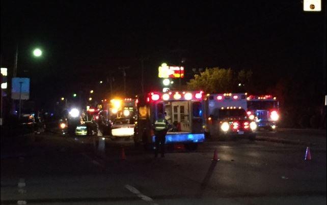 Multiple ambulances on scene of crash (FOX Carolina/ July 12, 2017)