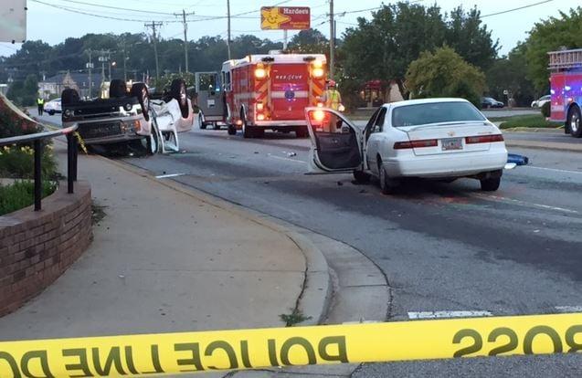 Daytime view of the crash scene (FOX Carolina/ July 12, 2017)