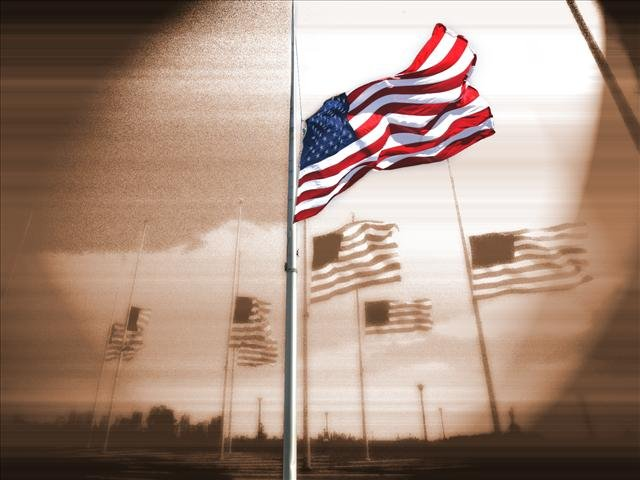 Flag lowered to half staff (Source: Associated Press)