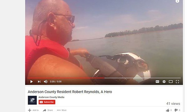 Robert Reynolds on Lake Hartwell (Source: YouTube)