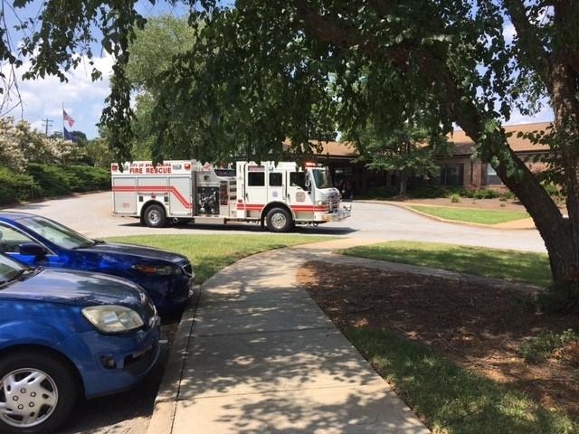 Firefighters on scene of retirement home (July 12, 2017/FOX Carolina)