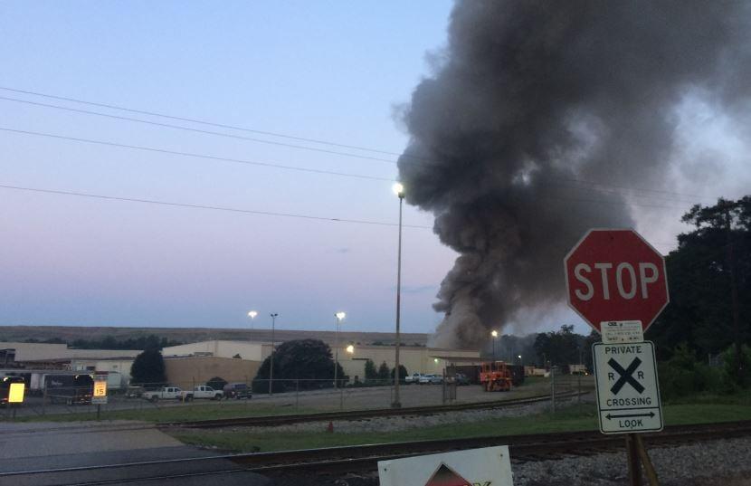 Fire at OmniSource (FOX Carolina/ July 14, 2017)