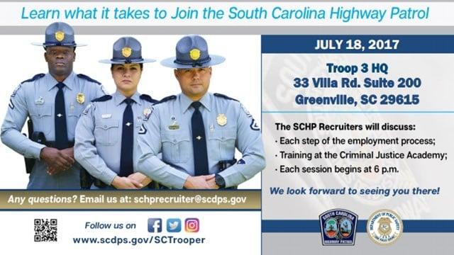 SC Highway Patrol recruitment event flyer (Source: SCHP)