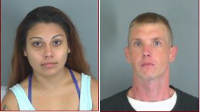 Adriana Beasley (left) and Charles Luck (right) (Source: Spartanburg County Detention Center)